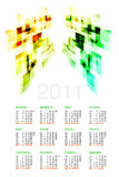 Russian Calendar 2011. On white Royalty Free Stock Photography
