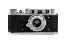 Russian camera FED 1930 production Royalty Free Stock Photos
