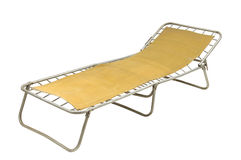 Russian Camp bed. On white background Royalty Free Stock Photos