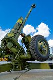 Russian cannon Royalty Free Stock Photography