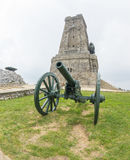Russian cannon at the Memorial to the Heroes of Shipka Stock Image