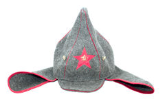 Russian cap. Budyonnovka, on white background Stock Image