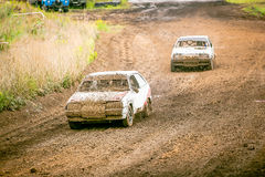 Russian car rally racing Royalty Free Stock Images