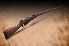 Russian carabine (short rifle) with bayounet (Mosin system, model of 1938) Royalty Free Stock Photos