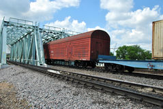 Russian cargo train Stock Photography