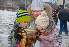 Russian Carnival - city festivals on the holiday. Stock Photography