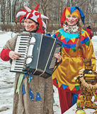 Russian Carnival - city festivals on the holiday. Stock Images