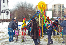 Russian Carnival - city festivals on the holiday. Royalty Free Stock Photography