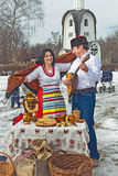 Russian Carnival - city festivals on the holiday. Royalty Free Stock Photo
