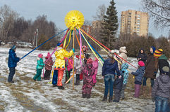 Russian Carnival - city festivals on the holiday. Royalty Free Stock Images