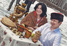 Russian Carnival - city festivals on the holiday. Royalty Free Stock Image