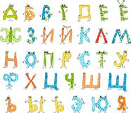 Russian cartoon alphabet Royalty Free Stock Photo