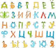 Russian cartoon alphabet Royalty Free Stock Photo