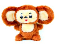 Russian cartoon character Cheburashka Royalty Free Stock Images