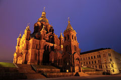 Russian cathedral in Helsinki Stock Image