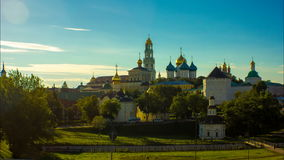 Russian cathedral, sergiev posad, religion, church stock footage