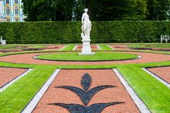 Russian Catherine palace garden statue Stock Photography
