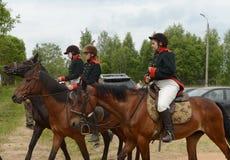 Russian cavalry in the Borodino field. Royalty Free Stock Photos
