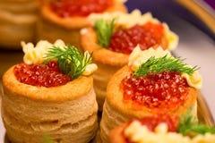 Russian caviar snack Stock Photos