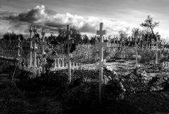 Russian cemetary near Ninilchik Alaska Stock Images