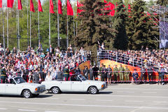 Russian ceremony of the opening military parade on annual Victor Royalty Free Stock Images