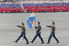 Russian ceremony of the opening military parade on annual Victor Stock Photography