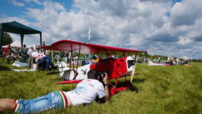 Russian championship in the sport aircraft modeling Royalty Free Stock Photo