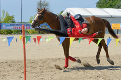 Russian championship in trick riding Royalty Free Stock Photos