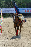 Russian championship in trick riding Royalty Free Stock Photography