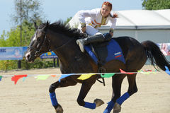 Russian championship in trick riding Stock Photography
