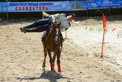 Russian championship in trick riding Stock Images