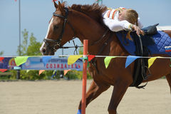 Russian championship in trick riding Stock Image