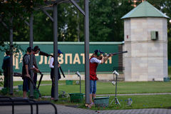 Russian championships in trap shooting Royalty Free Stock Photography