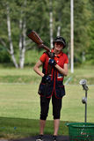Russian championships in trap shooting Stock Photos