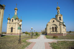 Russian Chapel in the Caucasus. Royalty Free Stock Photo