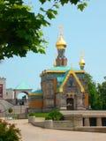 Russian chapel mathildenhöhe darmstadt Royalty Free Stock Photo