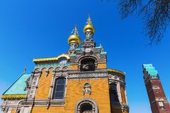 Russian Chapel in Darmstadt, Germany. Russian Chapel on the Mathildenhoehe in Darmstadt, Germany Stock Photography