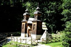 Free Russian Chapel Near Kranjska Gora In The Sun Stock Photos - 104790653