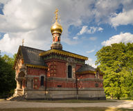 Russian chapel in the summer, Bad Homburg Royalty Free Stock Photo