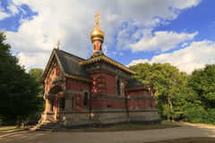 Russian chapel in the summer Royalty Free Stock Images