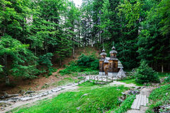 Russian chapel in Vrsic pass, Julian Alps, Slovenia Royalty Free Stock Photography
