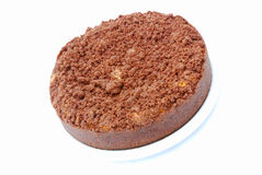 Cake with chocolate crumbles Royalty Free Stock Photos