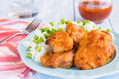 Russian Chicken Thighs Royalty Free Stock Photography