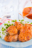 Russian Chicken Thighs Stock Image