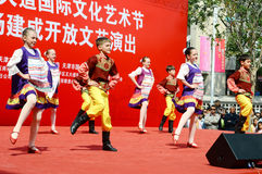 Russian children performing dance Royalty Free Stock Photos