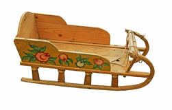 Russian children's sledge. Royalty Free Stock Images