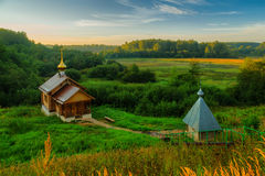 Russian Christian bathing hut Royalty Free Stock Photo