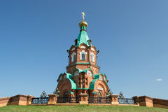 Russian christian church in krasnoyarsk Stock Photography