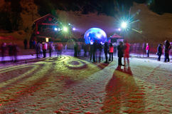 Russian Christmas Celebration, Meribel Royalty Free Stock Photography