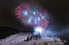 Russian christmas celebration , Meribel, France Stock Photos